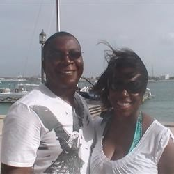 The wife and I in the U.S.V.I.