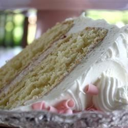 Cream Cake Recipe - This is a delicate white cake. Heavy cream is used instead of butter.