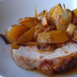 Quince and Golden Beet Turkey Breast