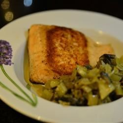 Seared Salmon with Indian-Inspired Cream Sauce