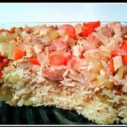 Left Over Turkey and Rice Bake