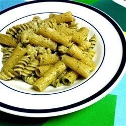 Pasta with Arugula Pesto Recipe - The unique flavour of arugula makes this pesto peppery and robust.