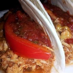 Slow Cooker Mexican-Style Chicken Recipe - This is an easy slow cooker chicken recipe using two types of salsa and pineapple preserves.