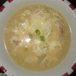 Southwestern Cauliflower and Ham Soup Recipe - Cauliflower, ham, Pepper Jack cheese and potato flakes go into this quick, thick soup with a bit of a kick.