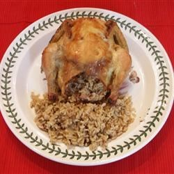 Cornish Hen With Rice Stuffing