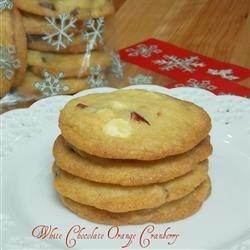 White Chocolate Orange Cranberry Cookies