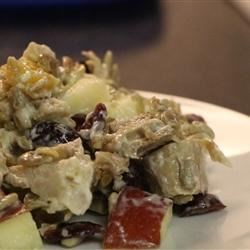 Sweet Leftover Turkey Salad Recipe - After Thanksgiving, make a delicious turkey salad with the sweetness of apples and raisins, the tang of lemon juice, and the nutty crunch of sunflower seed kernels.