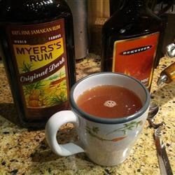 Twisted Apple Cider Recipe - Apple cider gets lively with the addition of spiced rum and cinnamon schnapps in a drink that's sure to warm you on a cold night!