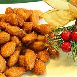 Honey Roasted Almonds Recipe - Roasted almonds are coated in a honey glaze and lightly salted for a savory sweet snack any time of the year.