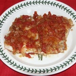 Spicy Red Snapper Recipe - Red snapper in a spicy tomato sauce. Serve with rice or pasta.