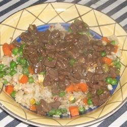 Beef with Green Onion Recipe - Tender beef steak and green onions are cooked together with oyster sauce and sherry.