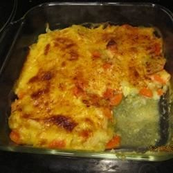 Cabbage-Carrot Casserole Recipe - This old family casserole recipe delivers a cheesy side dish full of cabbage and carrot.