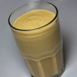 Sweet Potato and Banana Smoothie Recipe - Sweet potato and banana are blended together with soy milk and cinnamon for a creamy and colorful smoothie.