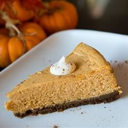 Pumpkin Cheesecake with Ginger Snap Crust