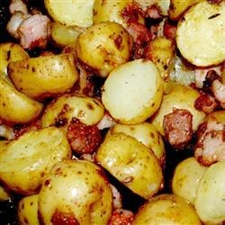 Roasted Garlic and Pork Potatoes