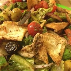 Lebanese Fattoosh Recipe - This tangy, lemony toasted bread salad is very refreshing on a hot summer's day!
