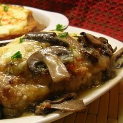 Chicken With Mushrooms Recipe - Try this winning combination of baked chicken breasts, mozzarella, and mushrooms. Serve with hot cooked rice or noodles.
