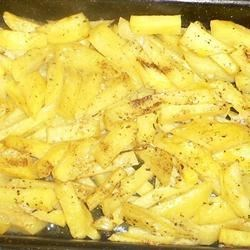 Potato Gratin With Chicken Broth, Garlic and Thyme