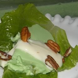 Aunt Mabel's Molded Avocado Salad with Toasted Pecans Recipe - This recipe has been in my husband's family for several generations.  His aunt gave it to me when we were married 45 years ago. This salad is presented on a lettuce leaf, with a light dressing and garnished with toasted pecans. Everyone loves it.