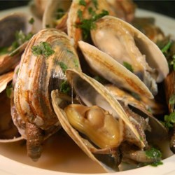 Scott Ure's Clams And Garlic Recipe - So simple, but so good - steamed clams served in their own liqueur. Serve with a crusty Italian bread, or over pasta.