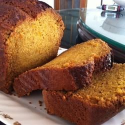 Pumpkin Bread Recipe - This bread actually tastes better after being frozen.  I make a dozen batches in   September and give them as Christmas gifts.