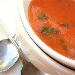 Tomato Spinach and Basil Soup Recipe - This soup can be refrigerated for up to 1 month and you can substitute 2 teaspoons of dried basil if you can't get fresh basil.