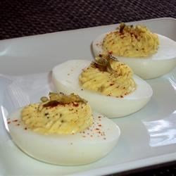 Bread and Butter Pickle Deviled Eggs
