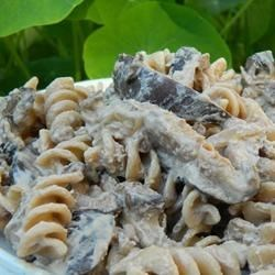 Vegan Portobello Stroganoff Recipe - Meaty marinated portobello mushrooms give this vegan dish the taste and mouth-feel of the beefy original.