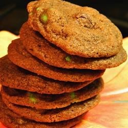 The Best Mint Chocolate Cookies Recipe - Tender cookies with milk chocolate chips and peppermint extract.