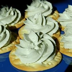 Blue Cheese Mousse Recipe - A puree of blue cheese and cream cheese is given an airy texture with the addition of whipped cream in this easy appetizer idea.