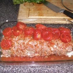 Cilantro Rice Stuffed Meatloaf