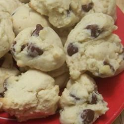 Milano-Style Cookies Recipe - Miniature chocolate chips are folded into an almond and vanilla-flavored batter creating soft, tasty cookies perfect for holiday cookie trays.