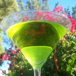 Green Gecko Recipe - Green Chartreuse and 151 rum are combined in this potent shot.