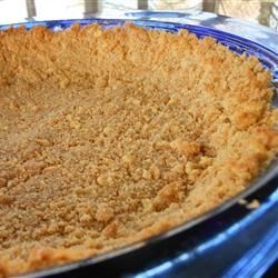 Graham Cracker Crust I Recipe - Remember this recipe when you want to whip up your favorite chocolate, coconut custard or banana cream pie. Butter, graham cracker crumbs and sugar are perfectly balanced in this recipe. And the mixture presses nicely into a pie pan, and can be pre-baked or just chilled.