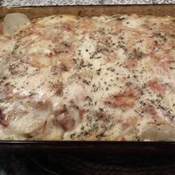 Potato Lasagna Recipe - This lasagna is made using potatoes in place of noodles. The perfect mix of fresh veggies, cheese and tomato sauce!
