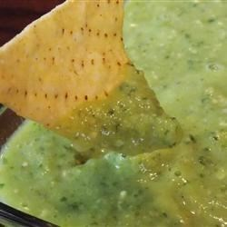 Dani's Green Monster Salsa Recipe - This is a fresh and creamy green salsa, sort of a cross between guacamole and salsa verde. Put it on tacos, drizzle over grilled meats, or use it as a dip with some chips.