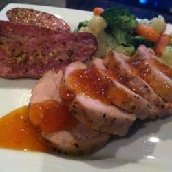 Apricot Pork Tenderloin Recipe - Apricot preserves and honey add a fruity sweetness to this simple pork tenderloin.