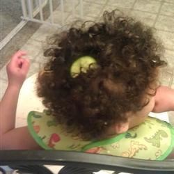 Cucumber in hair