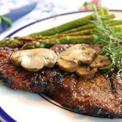 Grilled Delmonico Steaks Recipe - Marinated steaks so tender you can cut with a fork!  Friends and family always come running when they know I'm grilling.