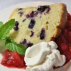 Blueberry Pound Cake Recipe - A delightful pound cake with fresh blueberries baked in. You may substitute frozen blueberries when they're not in season.