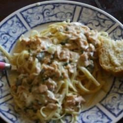 Peter's Pasta al' Tonno Recipe - Turned canned tuna into a quick and delicious pasta sauce. Combine tuna with an earthy saute of onions and garlic, cook briefly, toss with hot pasta and chopped parsley, then dust with Parmesan cheese to finish the dish.