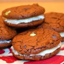 Mint Chocolate and Coconut Whoopie Pies