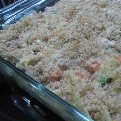 Turkey Medley Recipe - This chunky turkey and vegetable stew in a milk gravy can be served over biscuits, wide egg noodles, or rice.