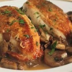 Chef John's Chicken and Mushrooms Recipe - Succulent chicken breasts topped with perfectly sauteed mushrooms create a delicious, yet very simple, dish.