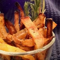 Rutabaga Oven Fries Recipe - Rutabagas crisp well with only a little bit of oil to make delicious oven fries.