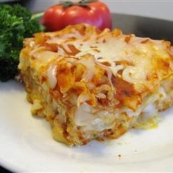 Cheese Lasagna Recipe - A meatless lasagna made with ricotta, parmesan and mozzarella cheese.