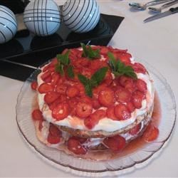 Sensational Strawberry Shortcake Recipe - This pretty strawberry dessert really hits the spot on a hot summer day.