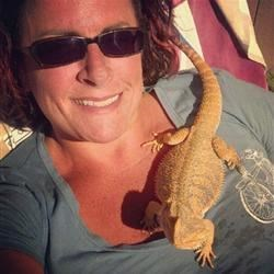 A girl and a lizard