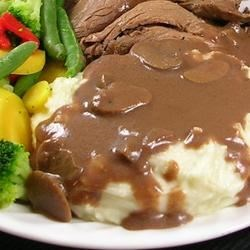 Chef John's Mushroom Gravy Recipe - Mushroom sauce can be done with any type of stock, but I used beef stock here since I'm going to be serving with meatloaf.