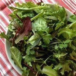 Simple French Herb Salad Mix Recipe - Mix up your own European-style salad mix with greens from your garden or the farmer's market. Be sure to include colorful lettuces and greens with lots of different textures, plus some of summertime's fresh herbs. This is a bold-flavored mix that can stand up to just about any dressing and topping that you like.